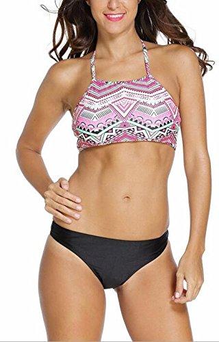 SunIfSnow Bikini -  Costume due pezzi  - Basic - Senza maniche  - (Kitty Crop)