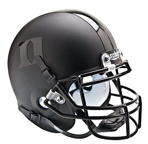 NCAA Duke Blue Devils Collectible Alt 2 Mini Helmet, Matte Black