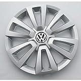 Volkswagen 5C0601147C8Z8 Radkappe (1 Stück) Radzierkappe Original 16 Zoll Stahlfelgen Radzierblende Silber