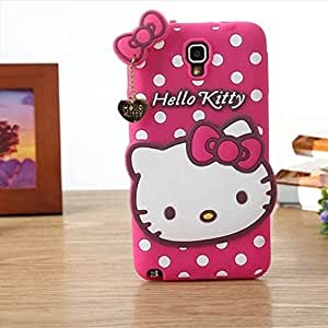 Go Crazzy Hello Kitty With Pendant Back Case For Samsung Note 3 Neo N7505 (Hot Pink)