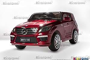 Mercedes ML63 AMG Rouge Métallisée, voiture électrique pour enfant, 12V - Moteurs