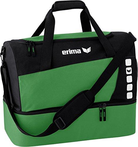Erima »Club 5 Line« Sporttasche mit Bodenfach smaragd/schwarz
