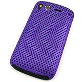 Grid Case Schutzhülle Cover Schale Tasche HTC Desire S / G12 - THIN Hardcase Cool Skin Handyhülle lila