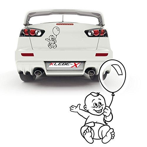 Baby mit Luftballon Autotattoo Design Motive von spielenden Kindern Heckscheiben Sticker |P034