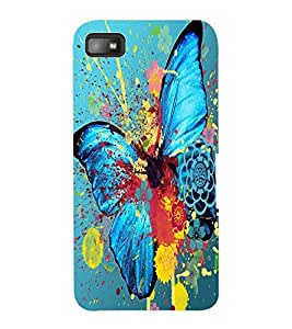 ColourCraft Colourful Butterfly Design Back Case Cover for BLACKBERRY Z10