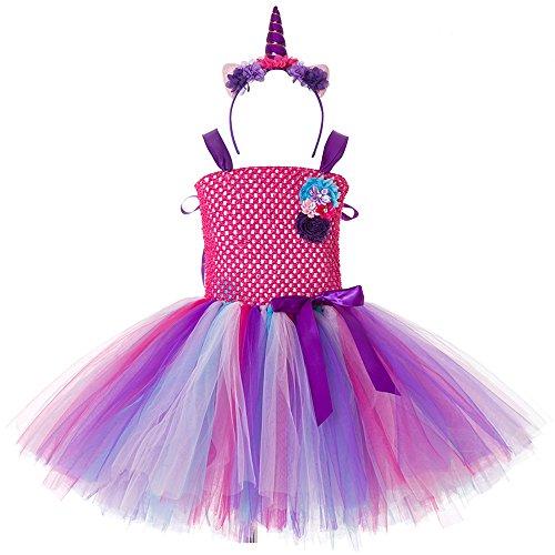 online store e69ef ff24d CIELARKO Vestito Bambina Unicorno Principessa Vestito da ...