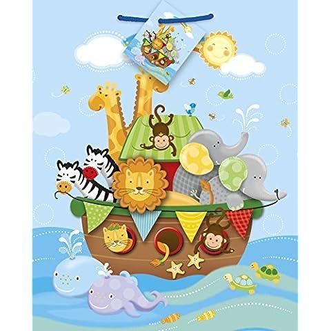 Arca de Noé - bolsa de regalo de la ducha del bebé de envasado