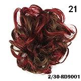 LYZHM Wigdiy Elástico Peluca Anillo de pelo Rizado Scrunchie Bun Chignon Ponytail Hairpiece Niñas Accesorios para el cabello21