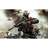 Athah Designs Wall Poster 13*19 Inches Matte Finish Call Of Duty: Black Ops II Call Of Duty Battle Weapon Assault Rifle Soldier Call Of Duty: Black Ops III