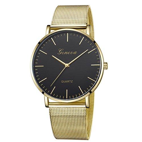 Damen Uhren,Pottoa Genf Damen Klassische Quarzuhr | Edelstahl Armbanduhr Armband Uhren |Damen Uhren Billig | Armbanduhr Damen Uhr Edelstahl Armband (E)