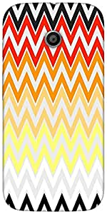 Snoogg rainbow shades pattern 2575 Hard Back Case Cover Shield For For Motorola E 2nd Generation / Moto E 2nd