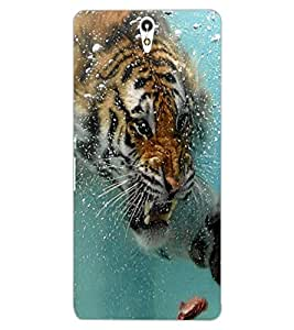 ColourCraft Hunting Tiger Design Back Case Cover for SONY XPERIA C5 ULTRA