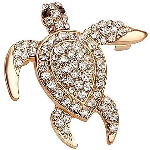 OUYANG vendita calda brillante cristallo spilla tartaruga per le donne , gold-one size , gold-one size