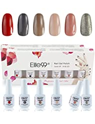 Elite99 Coffret Vernis A Ongles Semi-Permanent Manucure Kit - 8ml Lot de 4 Emballage Cadeau C011
