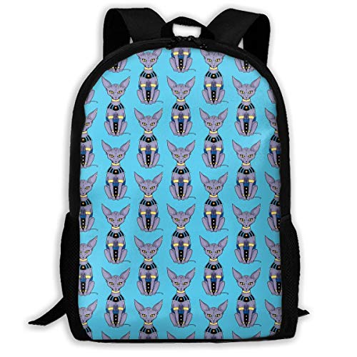 sghshsgh Mochilas de Camping la Universidad Sphynx Cat Bills Beerus Travel Hiking Backpack For Men and Women Outdoor College Laptop Bookbag Business Rucksack Fits MacBook Air
