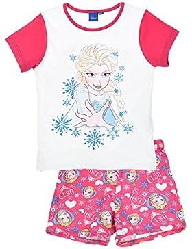 Pijama Frozen Disney para niñas 2 piezas-camiseta manga corta pantalón corto- 100% algodón