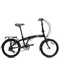Ford S-Max, Unisex Folding Bike, 7 Speed, 20-Inch Wheel, Gloss Black