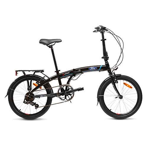 "Ford S-MAX Bicicleta Plegable, Unisex Adulto, Negro, 20\"""