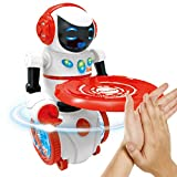 Luerme Robot Lumière Musical Commande Vocal Jouet Robot Intelligent Humanoïde Rouge...