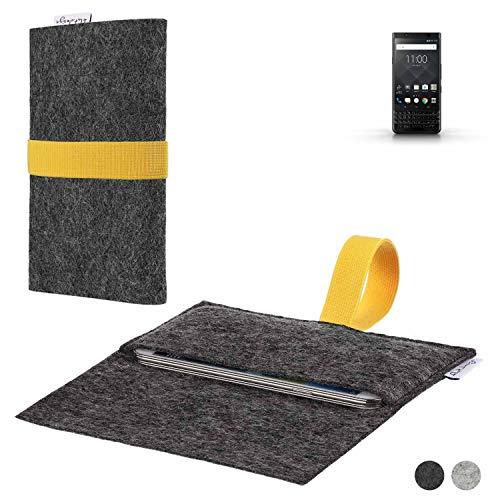 flat.design Handy Hülle Aveiro für BlackBerry KEYone Black Edition passgenaue Filz Tasche Case Sleeve Made in Germany