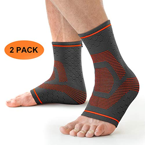 Awenia Fussbandage Fußbandage Fußgelenk Fersensporn Bandage Knöchel Laufen Sport für effektive Schmerzlinderung,Premium Bandage Sprunggelenk für Männer Frauen