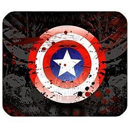 Custom Capitán América gaming alfombrilla de ratón fresco hermoso Rectángulo cómodo ratón alta calidad