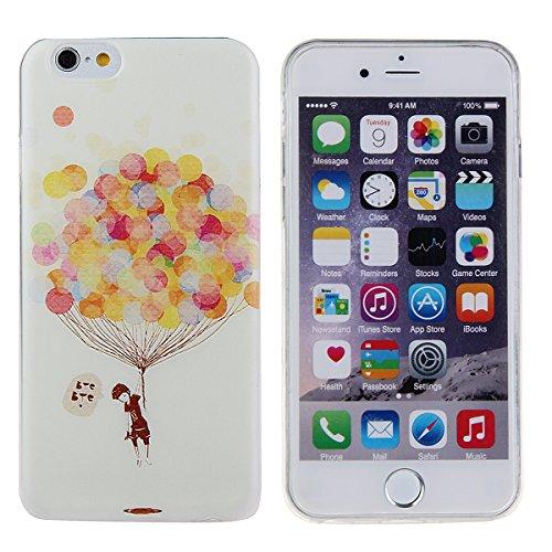 Ukayfe Custodia per iPhone 6 Plus, caso sottile sveglio per il iphone 6S Plus, TPU Crystal Clear antigraffio conColorato mondo subacqueo Custodia Cover posteriore per iPhone 6 Plus/6S Plus (5.5) di A palloncini colorati