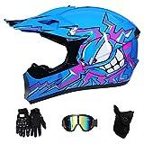RAON Motocross Moto Casques de Moto et Gants & Goggles Certification D. O. T Enfants...