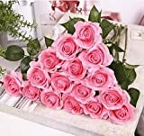 Generic 10 Head Real Latex Touch Rose Flowers For wedding And Home Design Bouquet Decor