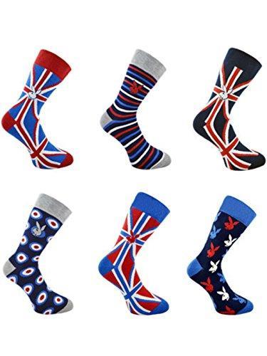 HDUK Mens Socks Herren Socken 39-45 Gr. 39-45, union jack Classic Union Suit