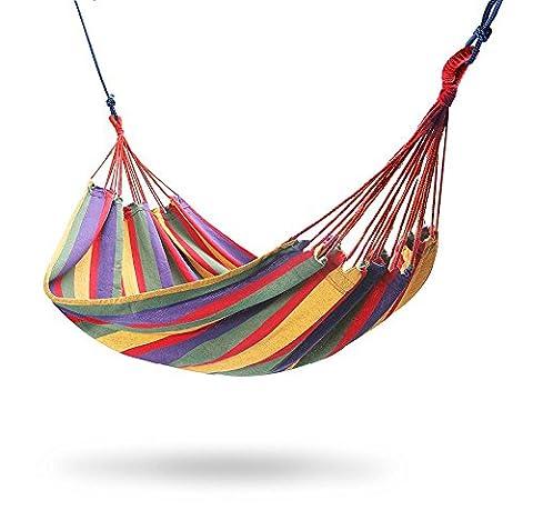 Hamac en nylon double résistant | Hamac très léger pour 2 personnes | Camping, randonnée, aventure, jardin