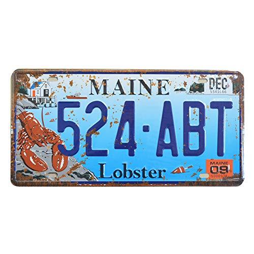 PEI's Nummernschild, geprägt, Retro-Vintage-Nummernschild, Motiv: US-Staaten, 15 x 30 cm Maine 524 - Papa License Plate Frame