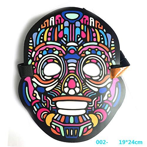 (Queta Sound Aktiviert Halloween EL Maske LED Musik Maske Halloween Xmas Party (003))