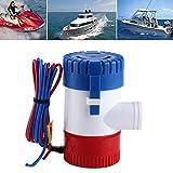 Zerone Bilge Pumpe,12V manuelle Bilgepumpe Miniatur Bilgepumpe voll Tauchen Rost und Feuchtigkeit Schutz 1100 Gallonen GPH