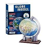 Dilwe DIY 3D Globus Papier Puzzle Stichsäge Modell Spielzeug für Kinder