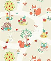 Arthouse Imagine Fun Forest Friends Neutral Wallpaper 667201 - Childrens Animals by Arthouse from Arthouse