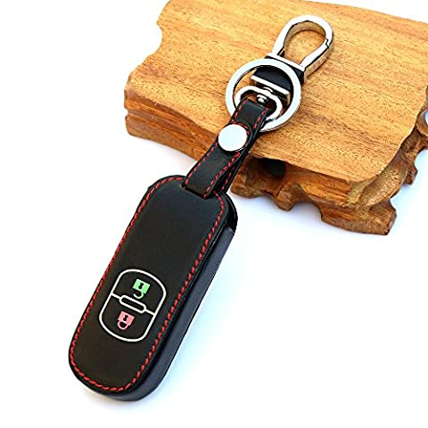 2 Buttons smart key Leather key holder key cover For