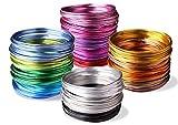 Creacraft Alu Schmuckdraht-Set 20 Farben, 100m (5m je Farbe)