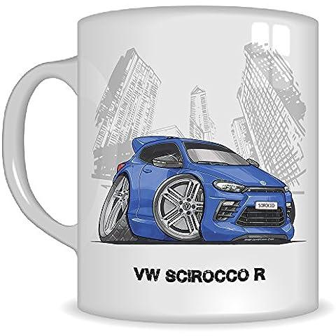 Regalos de Koolart k3322-mg dibujos animados de VW Scirocco R–Caricatura Azul/Plata para Hombre de regalo de taza de VW (tazas