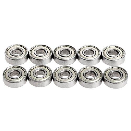 10pcs 8mm*22mm*7mm 608ZZ Carbon Steel tiefe Rille Lager Kugellager für RepRap 3D Drucker -