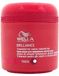 Wella Professionals - Masque Soin et Brillance pour Cheveux Epais et Colorés - Brilliance Treatment Mask - 150ml