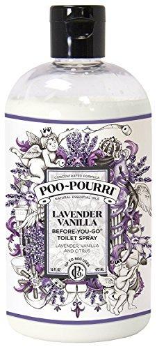 Poo-Pourri Lavender Vanilla Scent Refill Bottle 16 OZ by Essential Oils