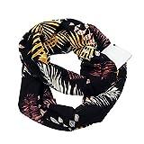 TianWlio Schals Frauen Weihnachten Frauen drucken Winter Cabrio Infinity Schal Taschen Schleifen Reißverschluss Taschenschals