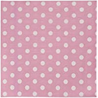 62452P Clayre & Eef - Tovaglioli di carta (x20) - Rosa ca. 16 x 16 cm - Giorno Runner