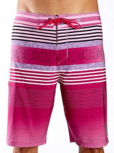 Hurley Board Shorts - Hurley Phantom Ortega Board Shorts - Obsidian neon pink