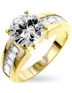 ISADY - Antoinette Gold - Damen Ring - 585er 14K Gold platiert - Zirkonium - Verlobungsring
