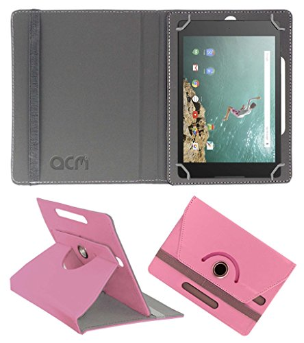 Acm Rotating 360° Leather Flip Case for Google Nexus 9 Cover Stand Light Pink  available at amazon for Rs.329