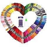 SOLEDI Stickgarn Embroidery Floss multifarben weicher Baumwolle perfekt für Bracelets Freundschaftsbänder Kit Stickerei Basteln Leisure Arts Kreuzstich Threads Nähgarne Häkeln 8m (100 Farben)