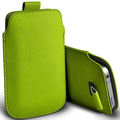 ( Green ) Blackberry Curve 3G 9330 Schutzkunstleder Pull Tab stilvolle Einbau Beutel-Kasten-Abdeckung Haut durch Fone-Case 9330 Screen Protector