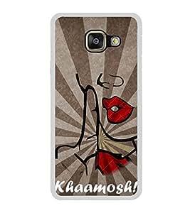 Khamosh 2D Hard Polycarbonate Designer Back Case Cover for Samsung Galaxy A5 (2016) :: Samsung Galaxy A5 2016 Duos :: Samsung Galaxy A5 2016 A510F A510M A510FD A5100 A510Y :: Samsung Galaxy A5 A510 2016 Edition